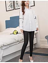 preiswerte -Damen Dünn Mittel Baumwolle Polyester Solide Einfarbig Legging,Schwarz