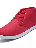 cheap -Men's Shoes Fabric Spring Fall Comfort Sneakers for Casual Blue Red Black