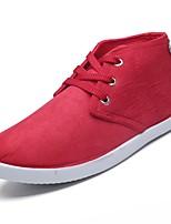 Недорогие -Для мужчин обувь Ткань Весна Осень Удобная обувь Кеды для Повседневные Черный Красный Синий