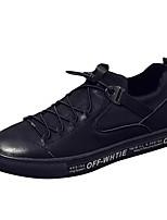 Недорогие -Муж. обувь Кожа Наппа Leather Весна Осень Удобная обувь Кеды для Повседневные Черный