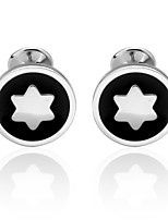 cheap -Snowflake Silver Cufflinks Copper Basic Fashion Daily Formal Men's Costume Jewelry