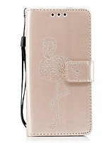 abordables -Coque Pour Samsung Galaxy A8 2018 A5(2017) Portefeuille Porte Carte Avec Support Clapet Relief Flamant Dur pour