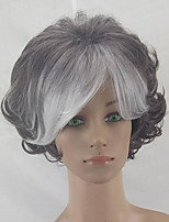 cheap -Women Grey White Ombre Curly Hair Wig Synthetic  Heat Resistant Wigs