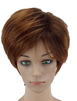 cheap -Synthetic Hair Wigs Straight Pixie Cut Natural Wigs Short Brown