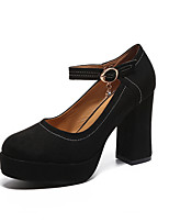 cheap -Women's Shoes Leatherette Winter Fall Comfort Heels Chunky Heel for Office & Career Dress Camel Black