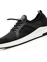 Недорогие -Для мужчин обувь Ткань Весна Осень Удобная обувь Кеды для Повседневные Черный Хаки