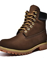 cheap -Men's Shoes Real Leather Cowhide Nappa Leather Spring Fall Fashion Boots Motorcycle Boots Combat Boots Boots for Casual Office & Career