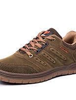 cheap -Men's Shoes Cowhide Spring Fall Comfort Sneakers for Casual Brown Army Green