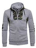 cheap -Men's Daily Hoodie Print Round Neck Micro-elastic Cotton Long Sleeve Winter Autumn/Fall