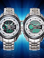 Недорогие -Муж. Модные часы Наручные часы Уникальный творческий часы Японский Кварцевый Календарь Светящийся ЖК экран Хронометр Крупный циферблат