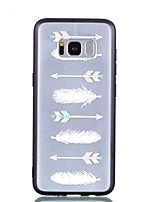 cheap -Case For Samsung Galaxy S8 Plus S8 Transparent Embossed Pattern Back Cover Feathers Hard PC for S8 Plus S8