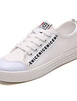economico -Da donna Scarpe Gomma Primavera Autunno Comoda Sneakers Piatto Punta tonda per Bianco Nero