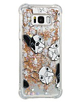 cheap -Case For Samsung Galaxy S8 Plus S8 Shockproof Flowing Liquid Pattern Back Cover Dog Soft TPU for S8 Plus S8 S7 edge S7
