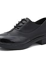preiswerte -Damen Schuhe PU Frühling Sommer Komfort Outdoor Niedriger Heel Runde Zehe für Normal Schwarz Beige