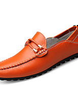 cheap -Men's Shoes PU Winter Fall Moccasin Comfort Loafers & Slip-Ons for Casual Blue Orange Black White