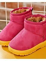 Недорогие -Девочки обувь Нубук Зима Осень Удобная обувь Зимние сапоги Ботинки Ботинки для Повседневные Черный Пурпурный Кофейный Верблюжий