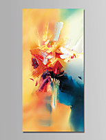 cheap -Hand-Painted Abstract Vertical, Comtemporary Modern Oil Painting Home Decoration One Panel