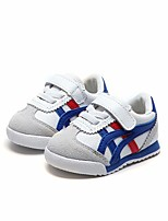 cheap -Boys' Girls' Shoes Synthetic Microfiber PU Spring Fall Comfort First Walkers Sneakers for Casual Black White