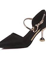 Недорогие -Жен. Обувь Резина Весна Осень Удобная обувь Обувь на каблуках На низком каблуке Заостренный носок для Золотой Черный Серебряный