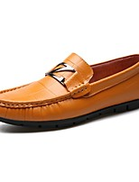 cheap -Men's Shoes Leather Spring Summer Comfort Loafers & Slip-Ons for Casual Black Yellow