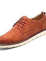 Недорогие -Муж. обувь Резина Весна Осень Удобная обувь Туфли на шнуровке для на открытом воздухе Черный Коричневый Хаки