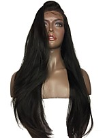 cheap -Luffy Unprocessed Brazilian Human Hair Yaki Straight Full Lace Wig Italian Yaki Straight Wig with Baby Hair Bleached Knots