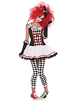 cheap -Burlesque Clown Circus One Piece Dress Cosplay Costume Party Costume Female Carnival Festival / Holiday Halloween Costumes Black Color