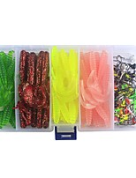 cheap -130 pcs g / Ounce mm inch, Plastic Carbon Steel Jigging Sea Fishing Fly Fishing Bait Casting Ice Fishing Spinning Jigging Fishing