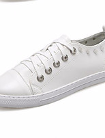cheap -Women's Shoes PU Spring Fall Comfort Sneakers Low Heel for Casual White