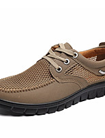 cheap -Men's Shoes Breathable Mesh Summer Fall Comfort Oxfords for Casual Gray Beige Black