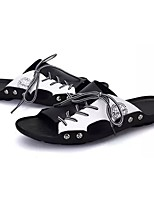cheap -Men's Shoes PU Cowhide Spring Fall Comfort Slippers & Flip-Flops for Casual Black/White