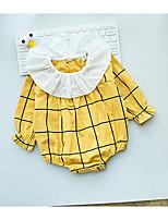 Недорогие -малыш Девочки 1 предмет Хлопок Клетки Весна Лето Длинный рукав Розовый Желтый