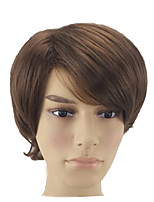 cheap -Synthetic Hair Wigs Curly Layered Haircut Natural Wigs Short Brown