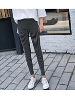 preiswerte -Damen Moderner Stil Mittel Baumwolle Druck Bedruckt Legging,Schwarz Grau