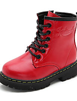 cheap -Girls' Shoes Leatherette Winter Fall Comfort Fashion Boots Boots Mid-Calf Boots for Casual Wine Red Black
