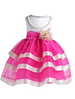 cheap -Girl's Daily Going out Striped Color Block Flower/Floral Dress,Cotton Polyester Spring, Fall, Winter, Summer All Seasons Sleeveless Cute