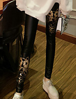 cheap -Women's Polyester Medium Solid Color Legging,Solid Print This Style is TRUE to SIZE.