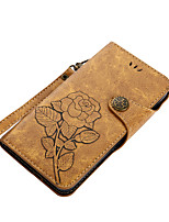 cheap -Case For Nokia Nokia 6 Nokia 5 Card Holder Wallet with Stand Flip Magnetic Pattern Full Body Cases Flower Hard PU Leather for Nokia 6