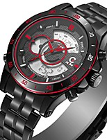 cheap -Men's Fashion Watch Japanese Quartz Casual Watch Stainless Steel Band Casual Black White
