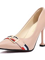 cheap -Women's Shoes PU Spring Fall Comfort Heels High Heel Pointed Toe for Casual Almond Pink Red Black White
