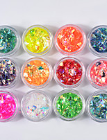 cheap -12 pcs Glitters Shiny Christmas Sequins Multi-colored Nail Art Design