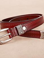 cheap -Genuine Leather Waist Belt,White Black Camel Light Brown Khaki Casual