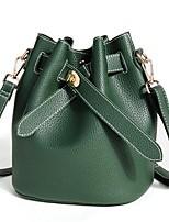 cheap -Women Bags PU Shoulder Bag Buttons Zipper for Casual All Season Brown Red Black Green