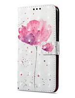 Недорогие -Кейс для Назначение OnePlus OnePlus 5T 5 Бумажник для карт Кошелек со стендом Флип Магнитный С узором Чехол Цветы Твердый Кожа PU для One