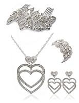 cheap -Women's Hair Combs Bridal Jewelry Sets Rhinestone Imitation Diamond Alloy Geometric Heart Fashion European Wedding Party Body Jewelry 1