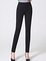 cheap -Women's Polyester Opaque Solid Color Legging,Solid This Style is TRUE to SIZE.