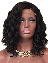 cheap -Human Hair Lace Front Wig Brazilian Hair Curly Water Wave African American Wig Side Part Natural Hairline Long 130% Density Women's