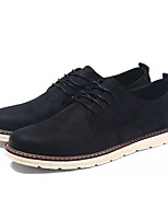 baratos -Homens sapatos Borracha Primavera Outono Conforto Oxfords para Ao ar livre Preto Marron Khaki
