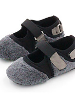 cheap -Girls' Shoes Flocking Spring Fall Comfort Flats for Casual Gray Black