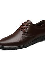 Недорогие -Муж. обувь Наппа Leather Весна Осень Удобная обувь Туфли на шнуровке для Повседневные Черный Коричневый Синий